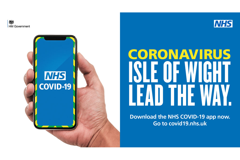 Trialing the COVID App here on the Isle of Wight